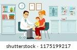 pediatrician doctor concept.... | Shutterstock .eps vector #1175199217