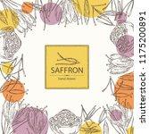 background with saffron  flower ... | Shutterstock .eps vector #1175200891