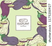 background with eggplant  full... | Shutterstock .eps vector #1175200927