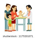 pediatrician doctor concept.... | Shutterstock .eps vector #1175201071