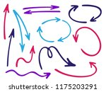 hand drawn diagram arrow icons... | Shutterstock .eps vector #1175203291