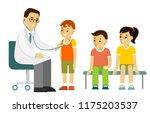pediatrician doctor concept.... | Shutterstock .eps vector #1175203537