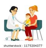 pediatrician doctor concept.... | Shutterstock .eps vector #1175204377