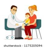 pediatrician doctor concept.... | Shutterstock .eps vector #1175205094