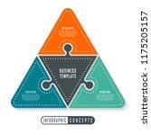 vector infographics puzzle... | Shutterstock .eps vector #1175205157