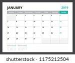 2019 calendar planner corporate ... | Shutterstock .eps vector #1175212504