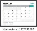 2019 calendar planner corporate ... | Shutterstock .eps vector #1175212507