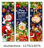 merry christmas greeting... | Shutterstock .eps vector #1175213074