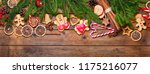 christmas decoration on rustic... | Shutterstock . vector #1175216077