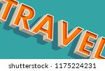 travel letters on blue | Shutterstock .eps vector #1175224231