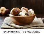 raw mushrooms boletus in a... | Shutterstock . vector #1175230087