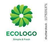 green leafs vector logo.... | Shutterstock .eps vector #1175231371