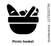 picnic basket icon vector... | Shutterstock .eps vector #1175232754