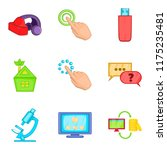 cyberspace icons set. cartoon... | Shutterstock . vector #1175235481