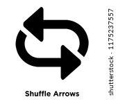 shuffle arrows icon vector...