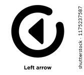left arrow icon vector isolated ... | Shutterstock .eps vector #1175237587