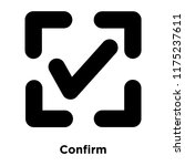 confirm icon vector isolated on ...