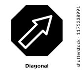 diagonal icon vector isolated...