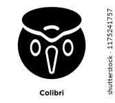 colibri icon vector isolated on ... | Shutterstock .eps vector #1175241757