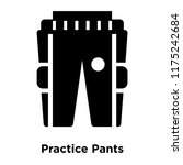 practice pants icon vector...   Shutterstock .eps vector #1175242684