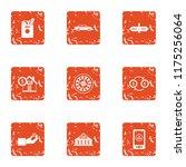 huge amount of money icons set. ... | Shutterstock . vector #1175256064
