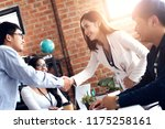 handshake of business partners... | Shutterstock . vector #1175258161