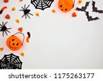 halloween corner border of... | Shutterstock . vector #1175263177