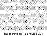 vector circuit board and...   Shutterstock .eps vector #1175266024
