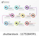 infographic design template.... | Shutterstock .eps vector #1175284591