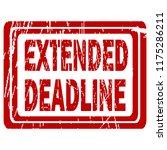 extended deadline red rubber... | Shutterstock .eps vector #1175286211