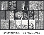big decorative laser cut set | Shutterstock .eps vector #1175286961