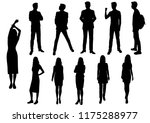 vector silhouettes men and... | Shutterstock .eps vector #1175288977