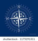 compass illustration in flat... | Shutterstock . vector #1175291311