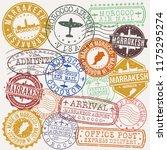 marrakech morocco stamp vector... | Shutterstock .eps vector #1175295274