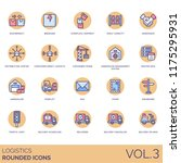 logistic rounded flat icon set. ... | Shutterstock .eps vector #1175295931