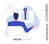 online doctor consultation... | Shutterstock .eps vector #1175298901