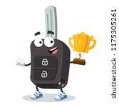 cartoon remote ignition car key ... | Shutterstock .eps vector #1175305261