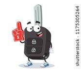 cartoon remote ignition car key ... | Shutterstock .eps vector #1175305264