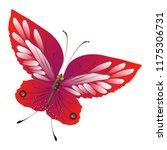 beautiful red butterflies ... | Shutterstock .eps vector #1175306731