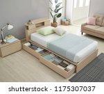 modern peaceful bedroom. modern ... | Shutterstock . vector #1175307037