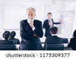 confident businessman  thinking ... | Shutterstock . vector #1175309377