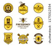 vector honey logo and icons for ... | Shutterstock .eps vector #1175312554