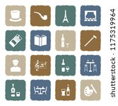 bohemian icons. grunge color... | Shutterstock .eps vector #1175319964