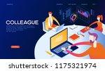 business meeting. presentation... | Shutterstock .eps vector #1175321974