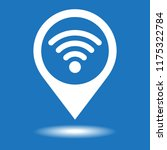 map pointer with wifi vector... | Shutterstock .eps vector #1175322784
