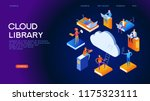 web library. technology and... | Shutterstock .eps vector #1175323111