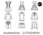 a set of icons. school clothes... | Shutterstock .eps vector #1175324554