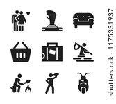 leisure icon. 9 leisure vector... | Shutterstock .eps vector #1175331937