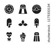flavor icon. 9 flavor vector... | Shutterstock .eps vector #1175333134