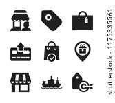 retail icon. 9 retail vector... | Shutterstock .eps vector #1175335561